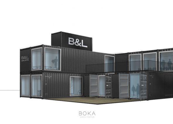 Baustellencontainer BOKA-Perspekive einfach