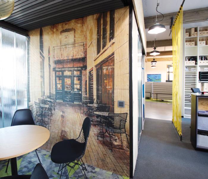 Fototranfer, Laserdruck, Büro-Loft, Arbeitswelten der Zukunft, Dresden